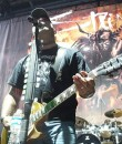 Aaron Lewis of Staind performing live at DTE Energy Music Theatre.