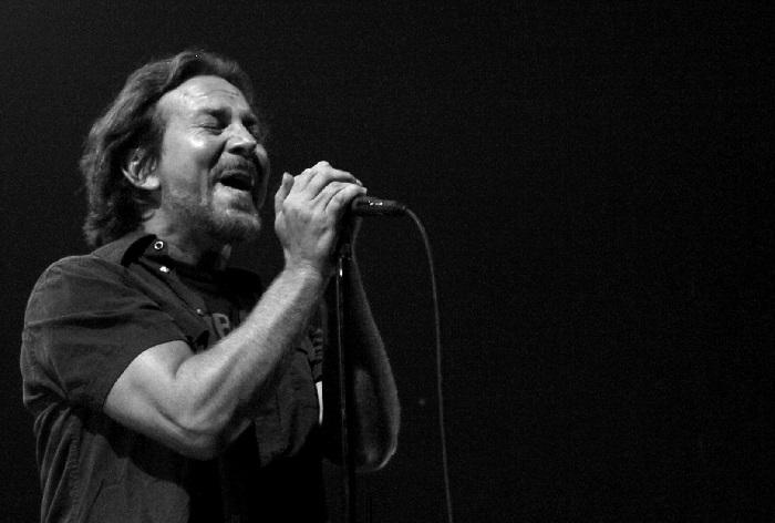 Photo: Eddie Vedder at Joe Louis Arena in Detroit, Michigan, in 2014.