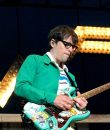 Photo of Rivers Cuomo of Weezer performing at Soaring Eagle in Mount Pleasant, Michigan.
