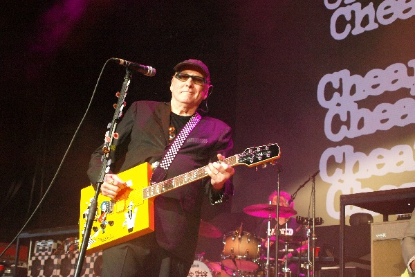 "Cheap Trick performing live at DTE Energy Music Theatre in Clarkston, Michigan, in 2018. Listen to a new Cheap Trick song, ""Light Up the Fire,"" off the band's upcoming album, ""In Another World."""