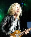Tommy Shaw of Styx performing live at DTE Energy Music Theatre in Clarkston, Michigan.