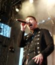 Brent Smith of Shinedown performing live at DTE Energy Music Theatre.