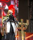 Judas Priest vocalist Rob Halford performing live at Soaring Eagle Casino and Resort in Mount Pleasant, Michigan.