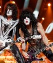 Kiss performing live at DTE Energy Music Theatre in Clarkston, Michigan.