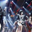 Kiss performing at Little Caesars Arena in Detroit, Michigan.