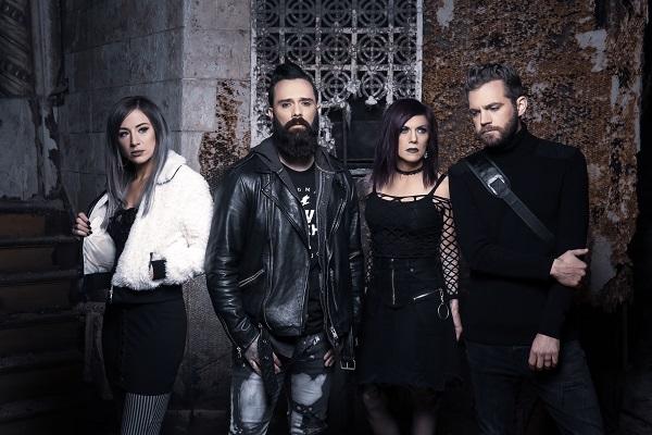 Christian rock band Skillet press photo.