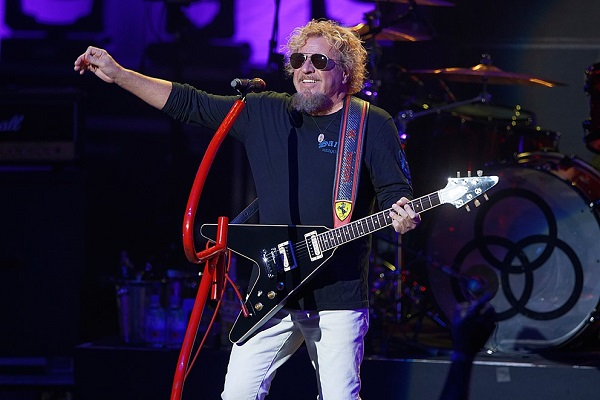 Sammy Hagar performing at DTE Energy Music Theatre in Clarkston, Michigan.