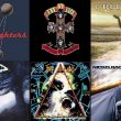 Album art from Foo Fighters, Guns N' Roses, Creed, Nickelback, Def Leppard and Staind.
