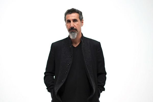 "Pictured: Serj Tankian of System of a Down. Tankian has released the title track off his upcoming solo EP, ""Elasticity."""