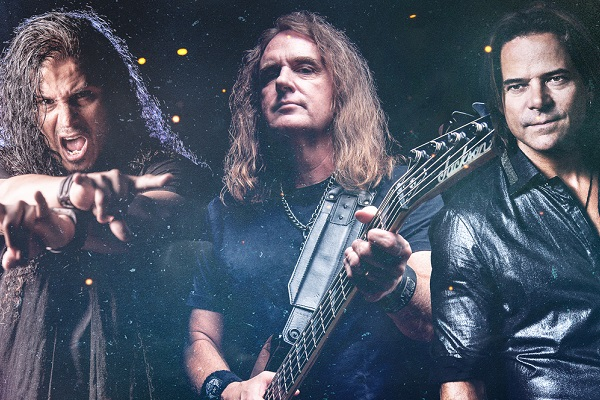 Jeff Scott Soto, David Ellefson and Rick Hughes promo photo for their Ellefson-Soto project.