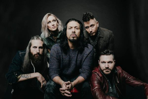 Michigan rock band Pop Evil, from left: Matt DiRito, Hayley Cramer, Leigh Kakaty, Dave Grahs and Nick Fuelling.