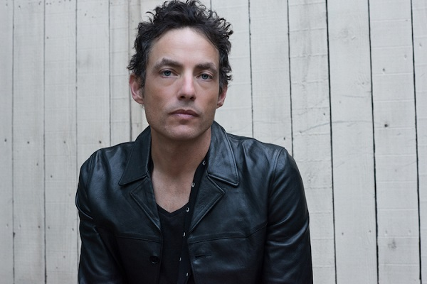Jakob Dylan of The Wallflowers in a leather jacket.