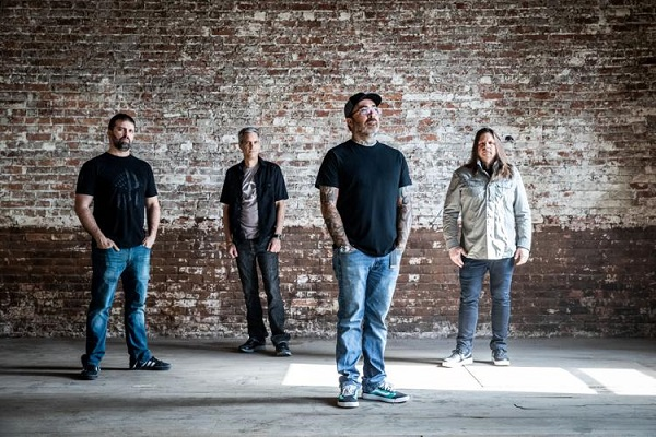 From left, Staind band members Sal Giancarelli, Johnny April, Aaron Lewis, and Mike Mushok.