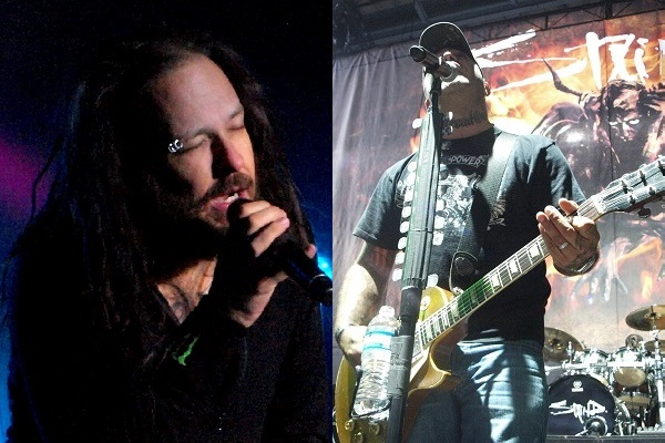 Jonathan Davis of Korn and Aaron Lewis of Staind.