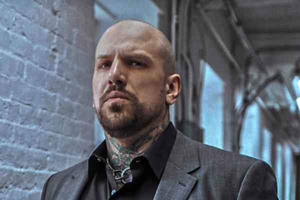 "New Bad Wolves vocalist Daniel ""DL"" Laskiewicz - promo photo."