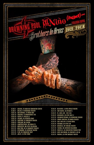 """""""The Brothers in Arms"""" tour poster."""
