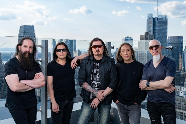 Progressive rock band Dream Theater from left to right: John Petrucci, Mike Mangini, James LaBrie, John Myung and Jordan Rudess.