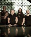 Brazil metal band Sepultura posing for a promo photograph.