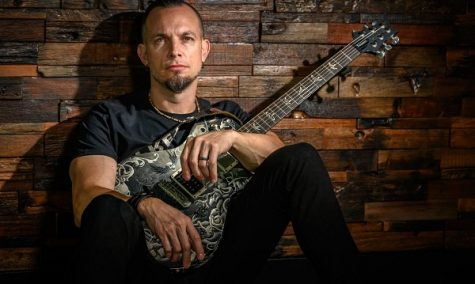 Mark Tremonti of Creed and Alter Bridge poses for a promo photo.