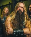 The member of Black Label Society standing in a dark room. It's the band's 2021 press photo.