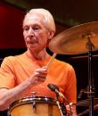 Charlie Watts of the Rolling Stones performing live.