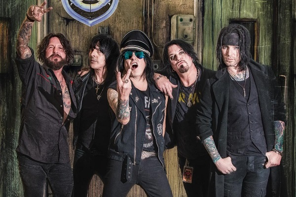 L.A. Guns featuring Phil Lewis on vocals, Tracii Guns on guitar, Ace Von Johnson on guitar, Johnny Martin on bass and Scot Coogan on drums.