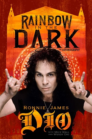 """Ronnie James Dio, """"Rainbow in the Dark,"""" book cover"""